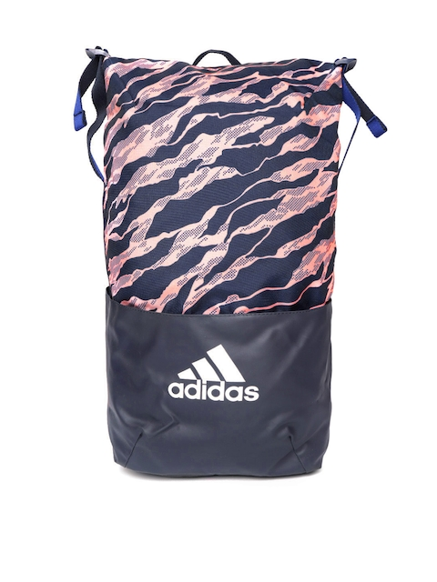 Adidas Unisex Navy & Pink ZNE Core G Printed Backpack