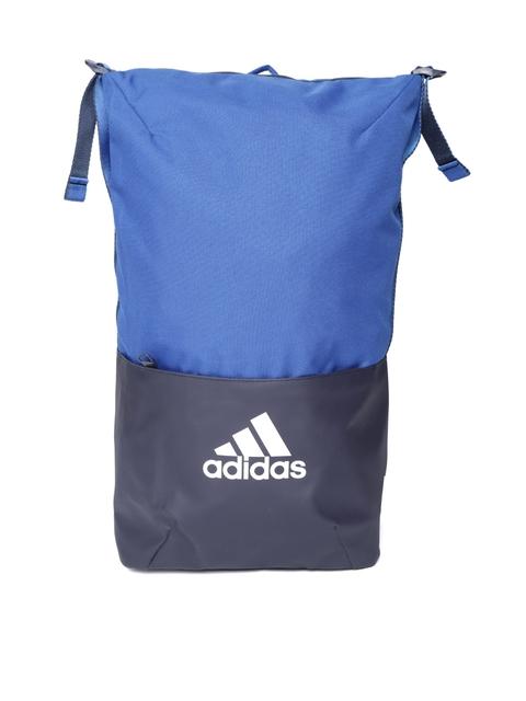 Adidas Unisex Blue ZNE Core Colourblocked Backpack