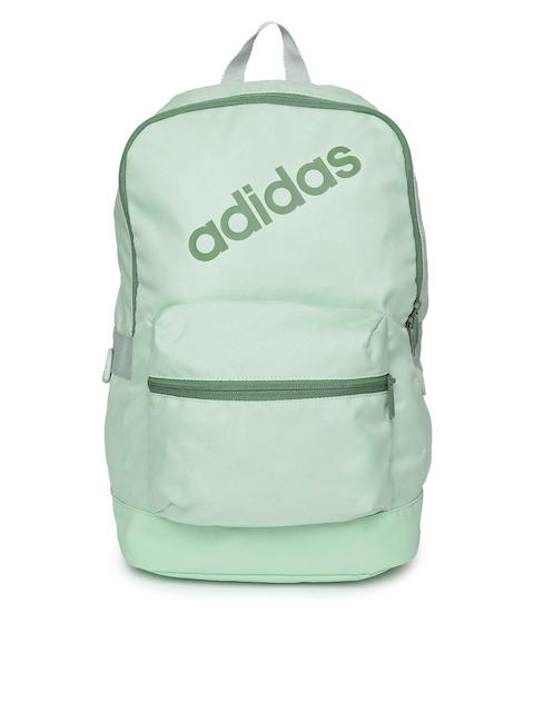 Adidas Men Green Brand Logo Backpack