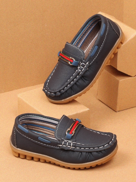 Walktrendy Boys Navy Blue Loafers