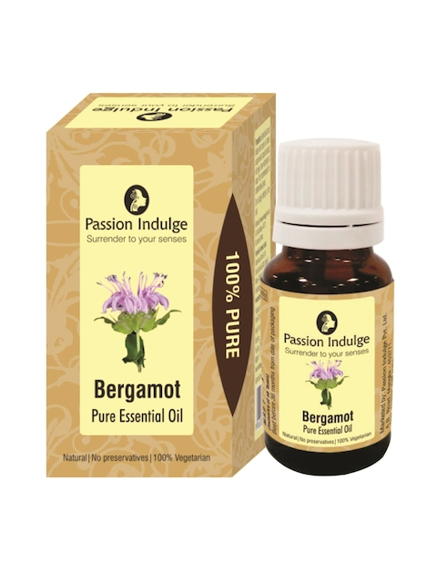 Passion Indulge Unisex Maroon Bergamot Pure Essential Oil 10 ml
