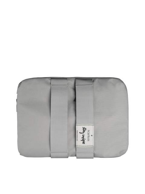 scarters Unisex Grey Solid Laptop Sleeve