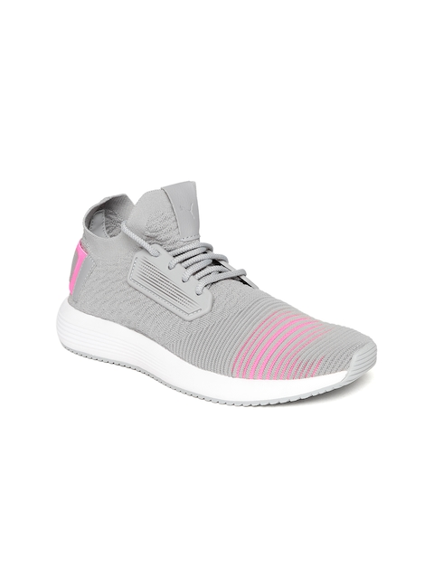 Puma Women Grey & Pink Uprise Color Shift Wn s Walking Shoes