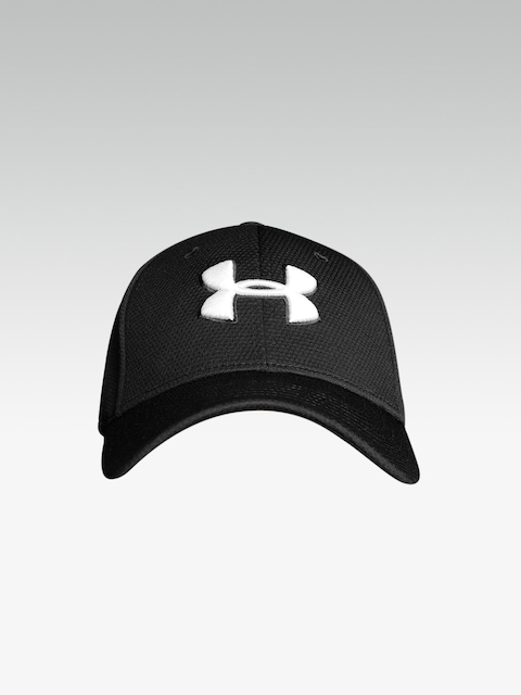 UNDER ARMOUR Men Black Blitzing II Stretch Fit Cap