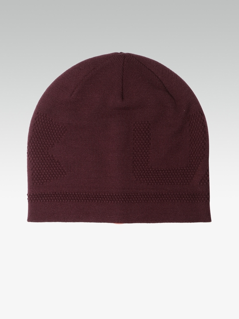 Under Armour Men Maroon Billboard 3.0 Patterned Beanie