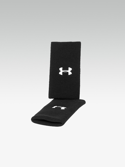 UNDER ARMOUR Unisex Pack of 2 Black 6 Performance Embroidered Wristbands