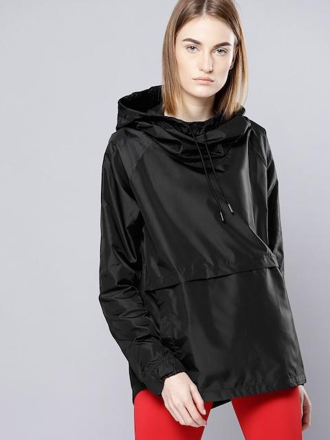 UNDER ARMOUR Women Black Storm Iridescent Woven PO Rain Jacket