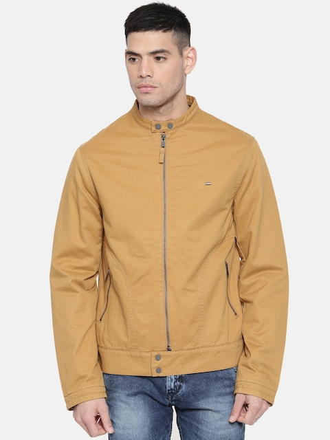 Lee Men Yellow Solid Tailored Jacket