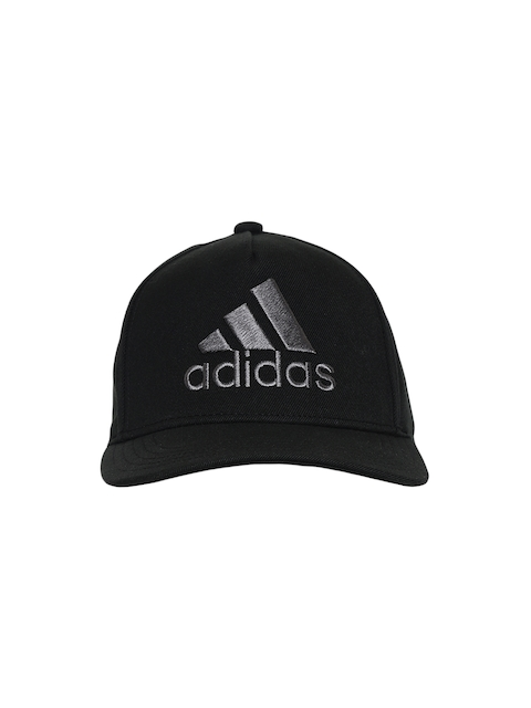 Adidas Men Black H90 Logo Solid Visor Cap