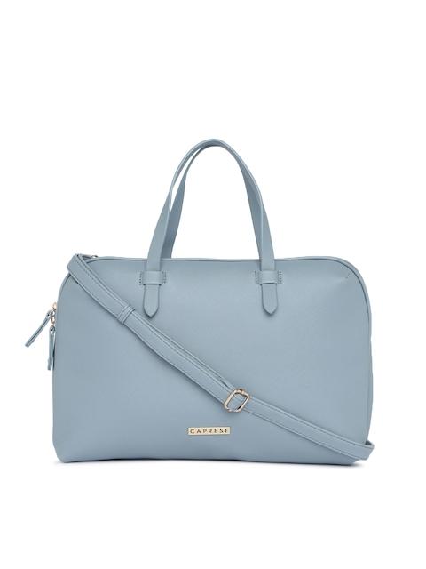 Caprese Blue Solid Handheld Bag