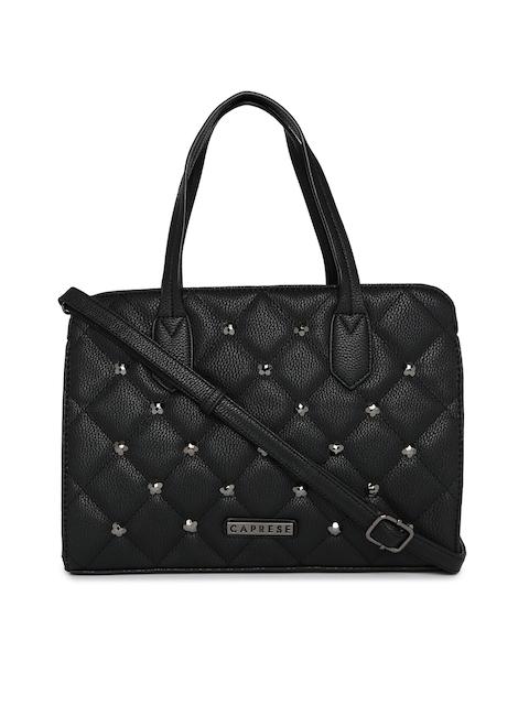 Caprese Black Embellished Handheld Bag