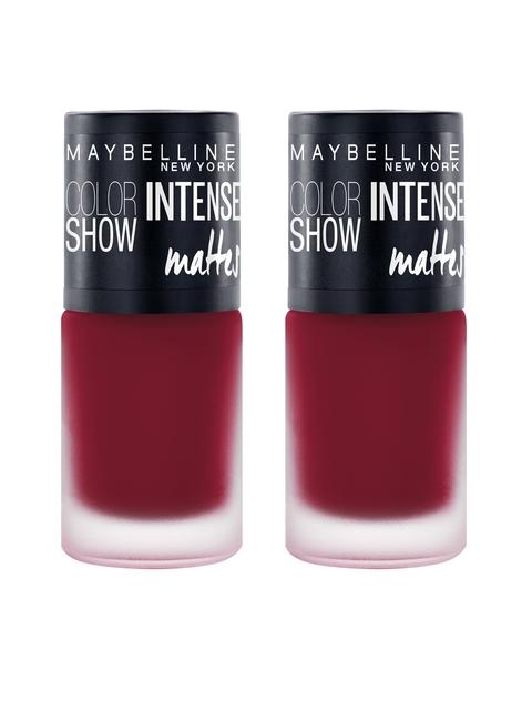 Maybelline Set of 2 Bold Burgundy Intense Matte Nail Paint M406