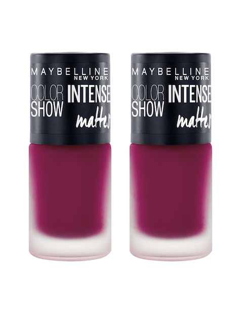 Maybelline New York Pack of 2 Color Show Vibrant Violet Intense Matte Nail Paint