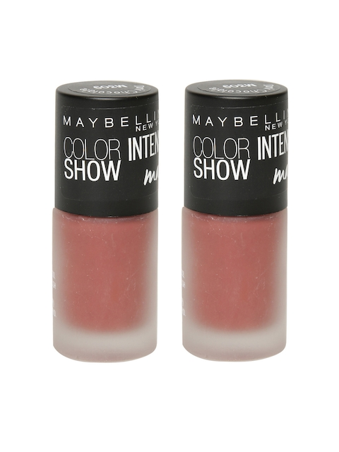 Maybelline Pack of 2 Color Show Intense Dark Chocolate Matte Nail Polish