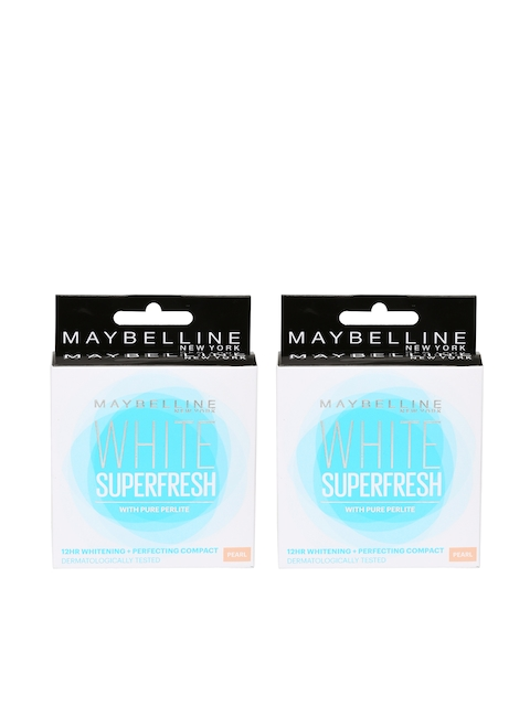 Maybelline Set Of 2 White Superfresh Coral Compact