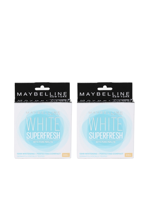 Maybelline Set Of 2 White Superfresh Shell Compact