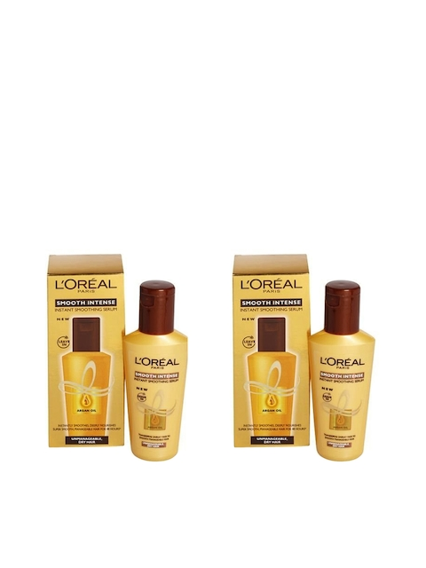 LOreal Paris Unisex Set Of 2 Smooth Intense Smoothing Serum 100 ml