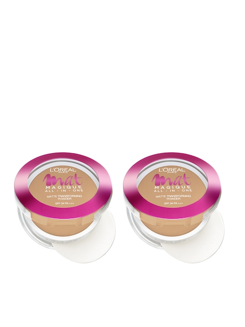 LOreal Paris Set Of 2 Nude Honey Mat Magique All-In-One Matte Transforming Powder