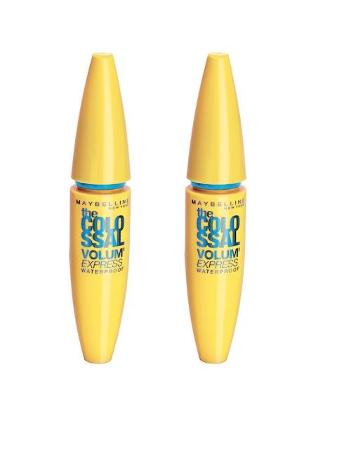 Maybelline Set Of 2 Waterproof Black Volume Express Colossal Mascara 10 g