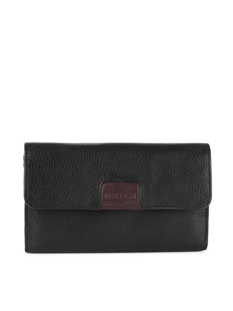 Hidesign Women Black Solid Two Fold Wallet