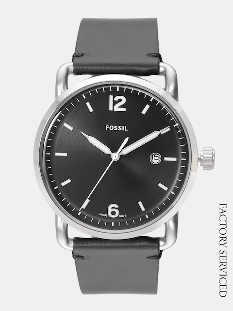 Fossil Men Black Factory Serviced Analogue Watch FS5406_LEMONS_OR