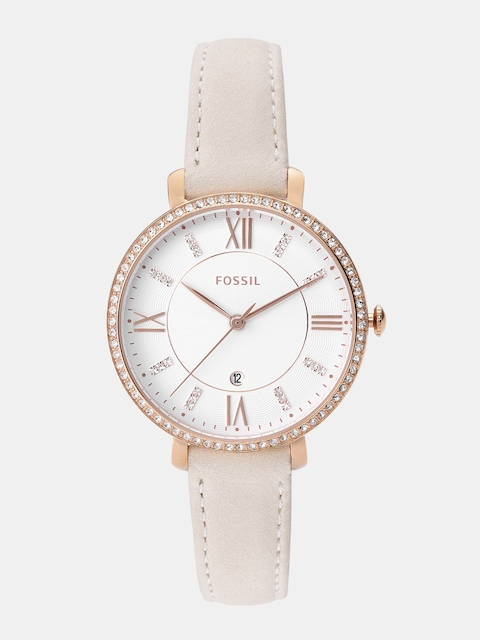 Fossil Women White Analogue Watch ES4303_LEMONS_OR