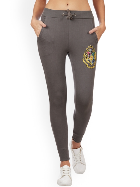 Free Authority Women Taupe-Coloured Harry Potter Solid Joggers