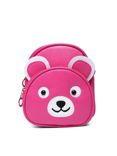Lil Star Girls Pink Solid Backpack-cum-Sling Bag