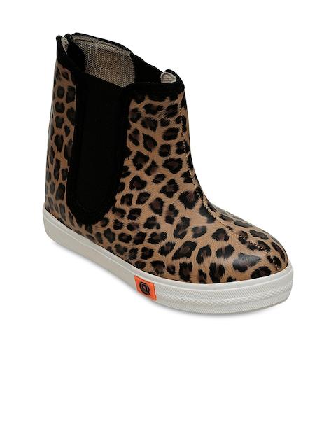 DChica Girls Cream-Coloured Flat Boots