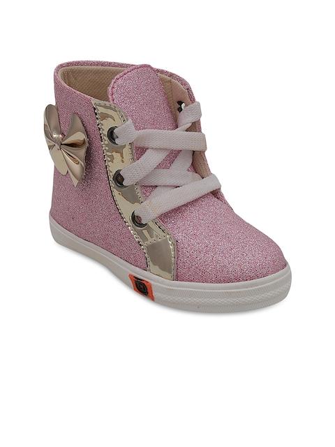 DChica Girls Pink Flat Boots