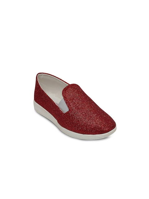 DChica Girls Red Loafers