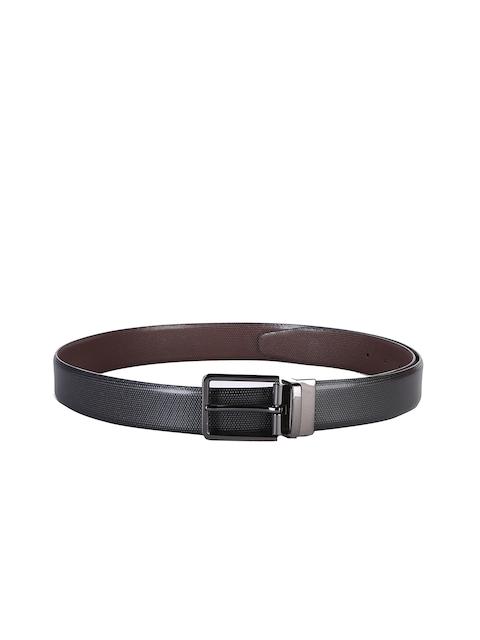 Second SKIN Men Black & Brown Reversible Genuine Leather Solid Belt