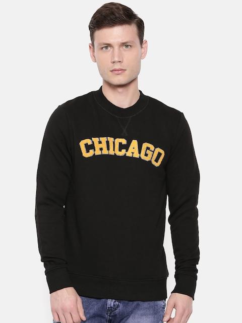 Jack & Jones Men Black Printed Sweatshirt