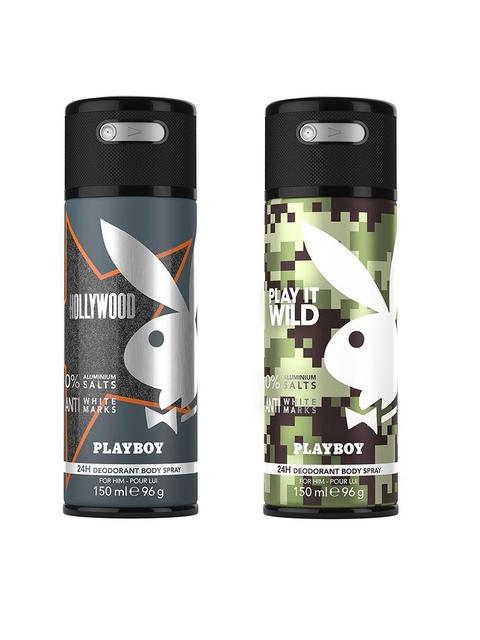 Playboy Men Set of 2 Hollywood + Wild Fragrance Gift Set