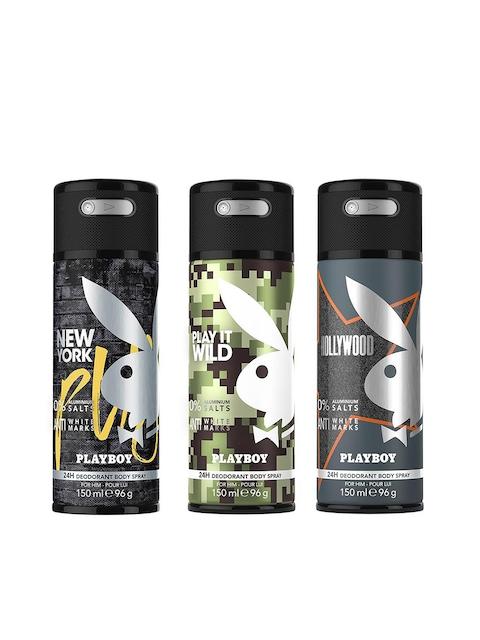 Playboy Men Set of 3 New York + Wild + Hollywood Fragrance Gift Set