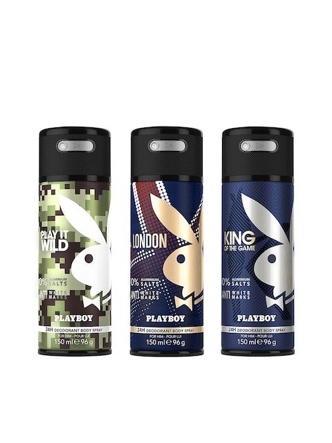 Playboy Men Pack of 3 Deodarants
