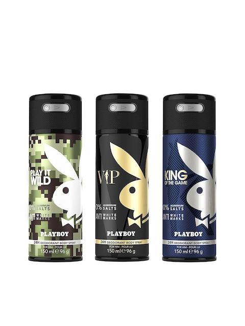 Playboy Men Set of 3 King + Wild + VIP Deo Fragrance Gift Set
