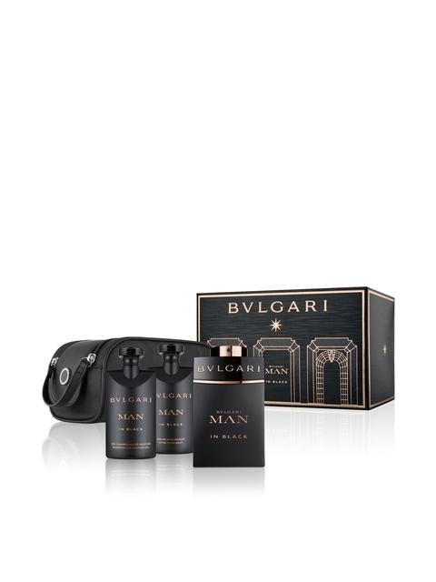 Bvlgari Men In Black Set of 3 Fragrance Gift Set (EDP100ml+SSG75ml+ASB75ml+Pouch)
