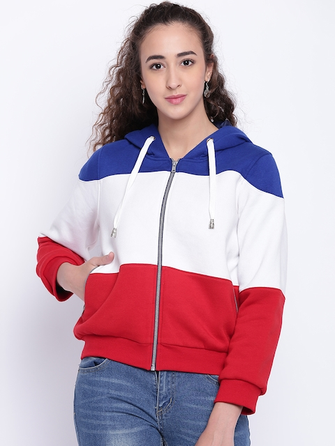 Texco Women Blue Colourblocked Insulator Bomber