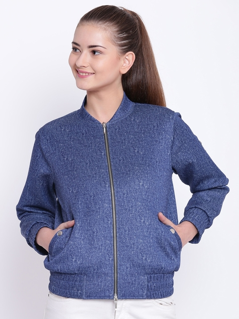 Texco Women Blue Solid Insulator Bomber