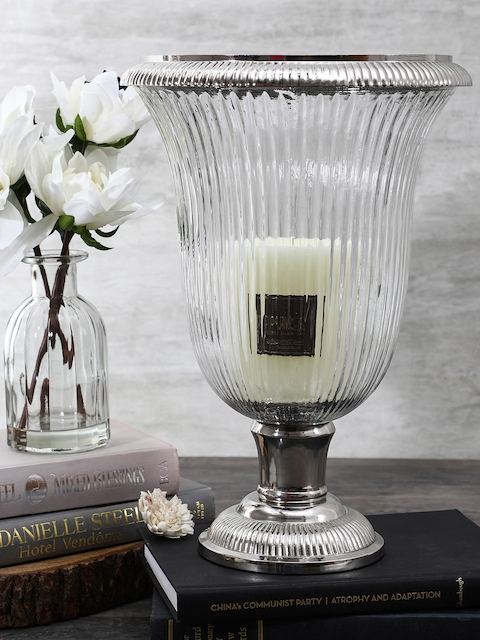 Pure Home and Living Silver-Toned Angel Candle Holder