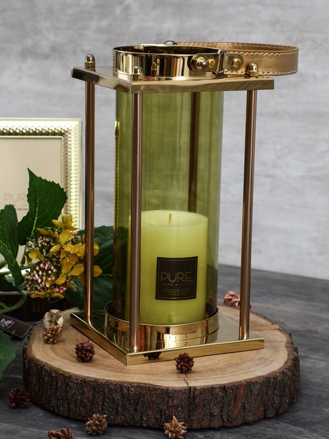 Pure Home and Living Green & Gold-Toned Candle Holder