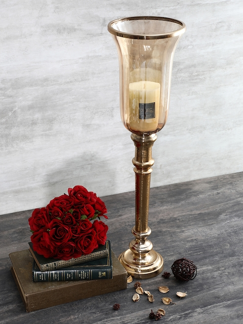Pure Home and Living Gold-Toned Vintage Candle Holder
