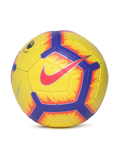 Nike Unisex Yellow Premier League Strike FA18 Football