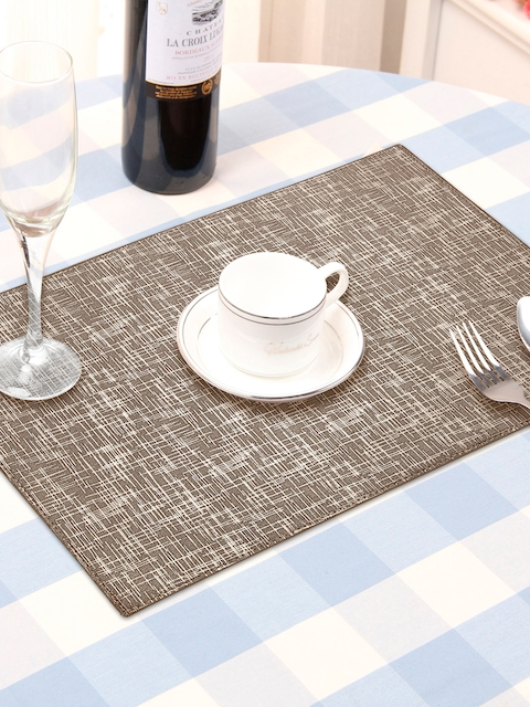 OBSESSIONS Set Of 6 Brown Textured Table Mats
