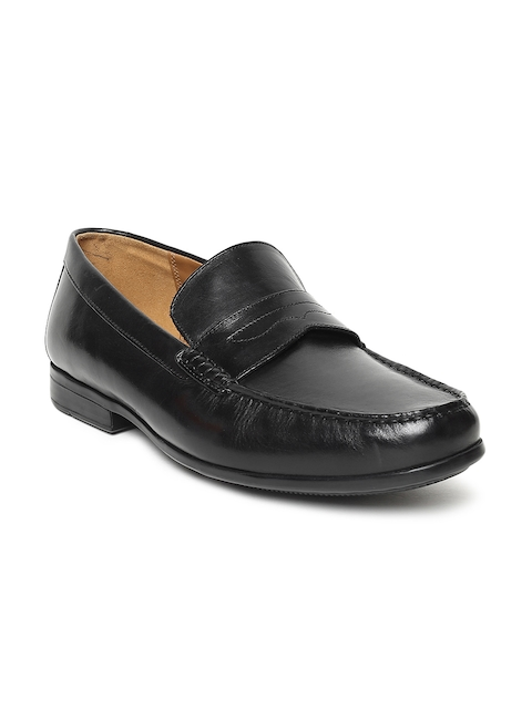Clarks Men Black Formal Leather Loafers