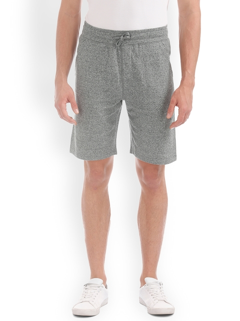 IZOD Men Grey Solid Regular Fit Regular Shorts
