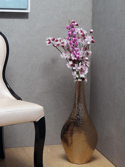Athome by Nilkamal Gold-Toned Patterned Vase