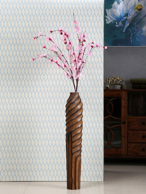 Athome by Nilkamal Brown Cylindrical Vase