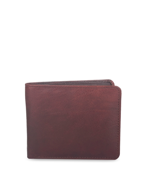 CHISEL Men Brown Solid Leather Two Fold Wallet